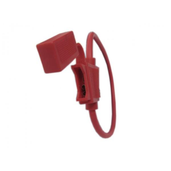 2048-CA/VC 紅色引線汽車保險絲座 (中型插片) (PN: 10860203)