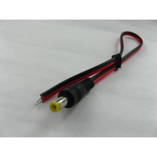 DCC-2.1F-0/VC 母插~開尾 DC 電源線, 線長 30CM (PN: 12350080)