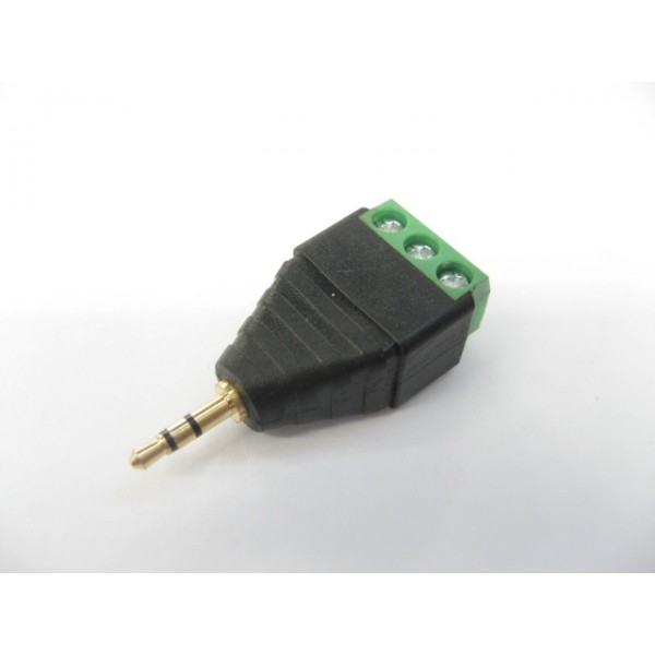 2.5-M-T/VC 2.5mm 接線立體聲公插 (PN: 14130402)